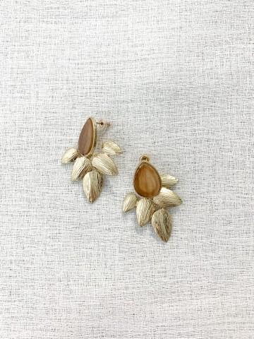 Pendiente Flower Beige