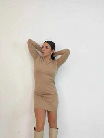 Vestido Silvana beige