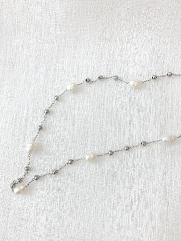 Collar Perlado Silver
