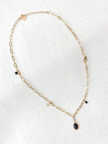 Collar Black Stone
