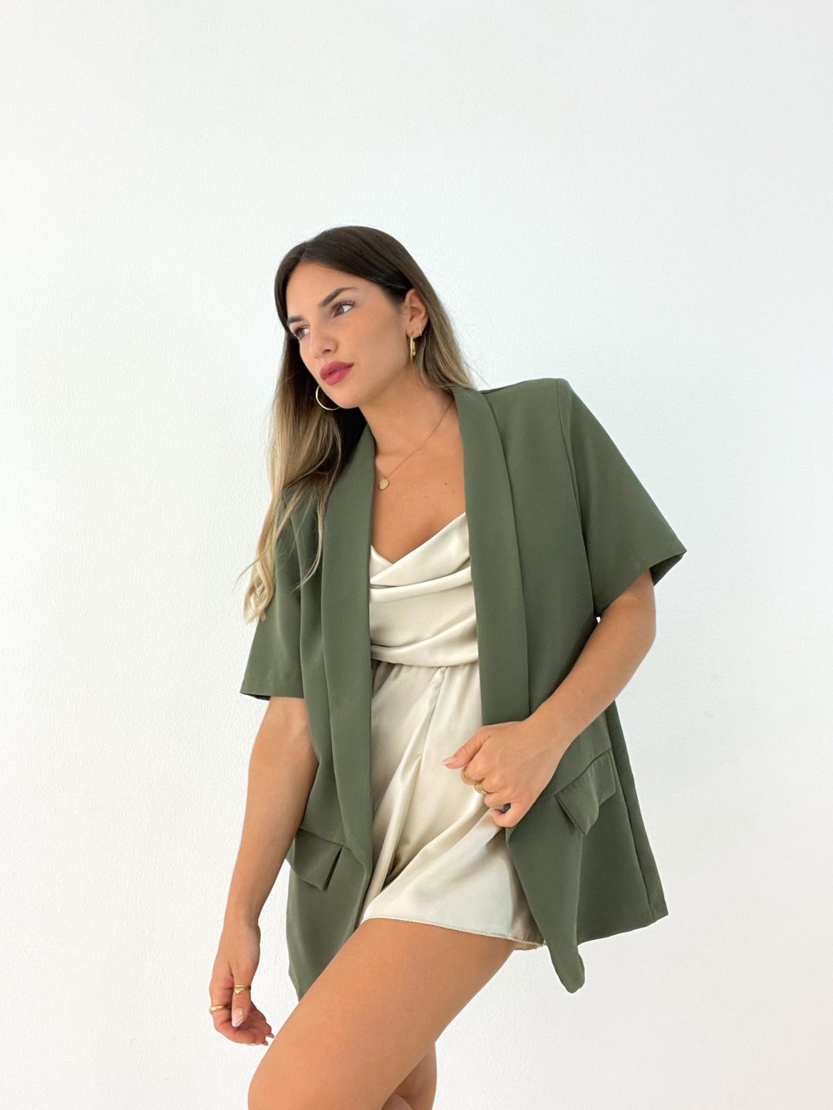Blazer manga corta verde