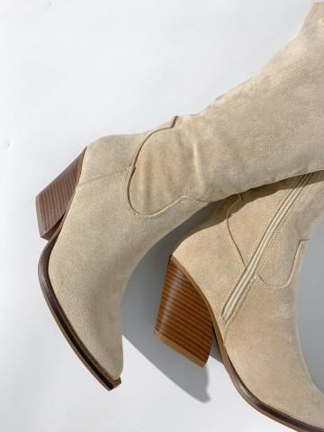 Bota alta cowboy serraje