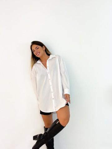 Camisa popelin blanca