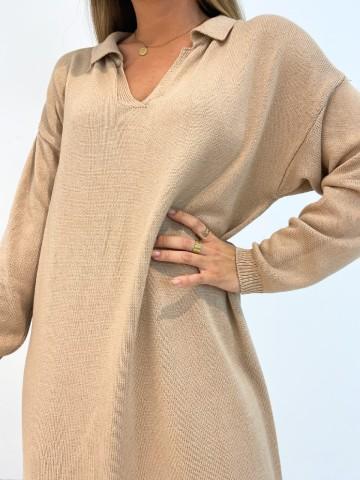 Vestido Venus camel