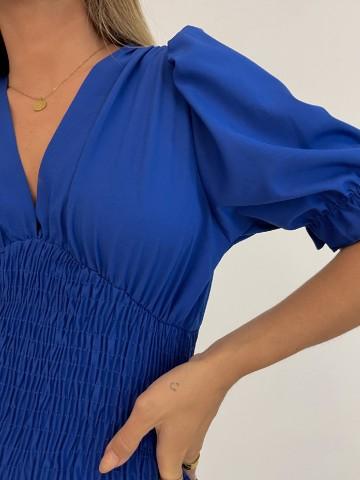 Vestido Venecia azul marino