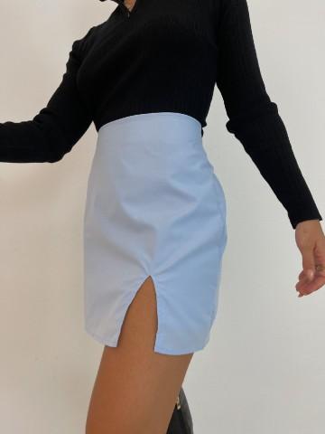 Falda abertura azul