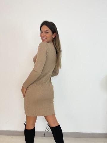 Vestido Kim beige