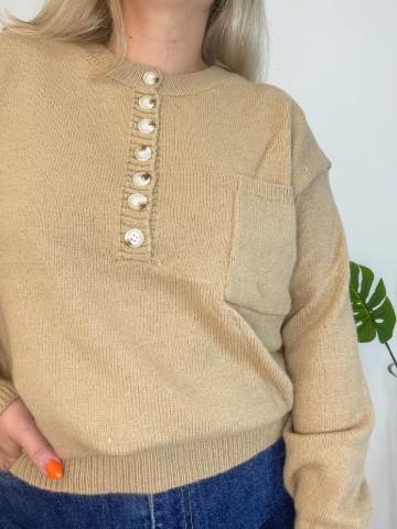 Jersey Button camel