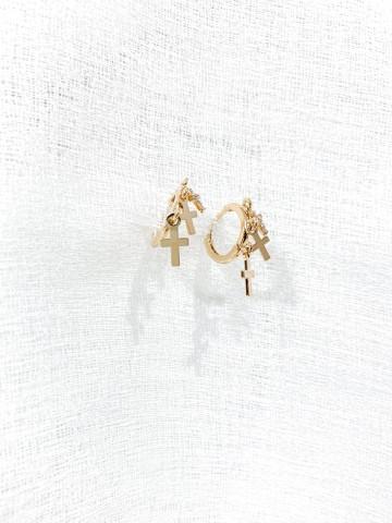 Pendiente Cross Golden